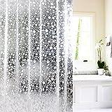 Duschvorhang 3D-Effekt klare Badewanne Badewanne Wasserfall Tropfen PVC-Wasser-Würfel-Vorhang ( Size : 120*180cm(47.24*70.87in) )