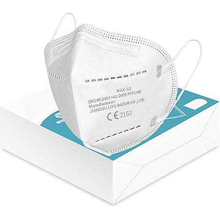 KARAEASY Mascherine Ffp2 Certificate CE 5 Strati Mascherina Ffp2 filtri 95% Passanti Orecchie Senza Valvola Confezione da 10 PC