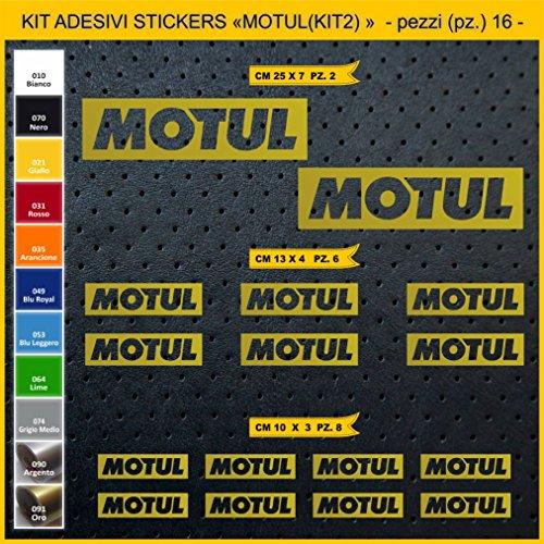 Pimastickerslab Aufkleber stickers MOTUL - KIT 2-16 PCS - moto decal bike-Motorrad- Cod. 0758 (091 ORO)