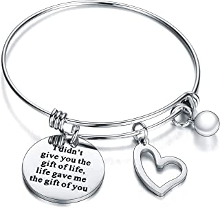 Mother in Law Gifts From Daughter Son Bracelet Bangle Jewelry for Step mom Bangle for Women Stepmother
