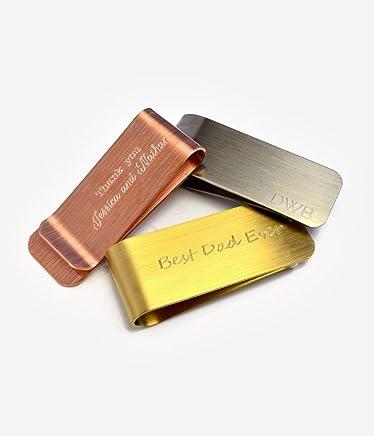 Personalized money clip, Custom money clip, Groomsmen gift for men, engraved money clip