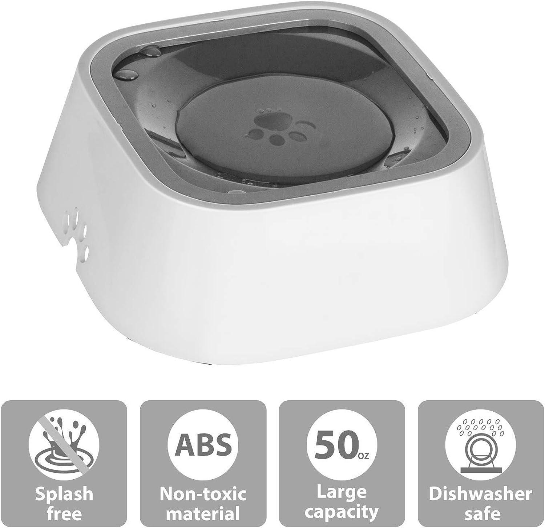 Vitalulos Dog Water Bowl, SplashFree Pet Bowl con Materiale Antibatterico, Veicolo Porta acqua per cani /gatti /Animali
