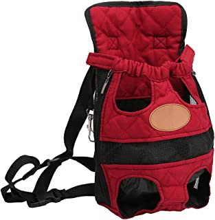 Riveroy Legs-Out Front Pet Dog Carrier,Hands-Free Adjustable Backpack Travel Bag for Small Medium Puppy Doggie Cat Bunny Breeds Outdoor