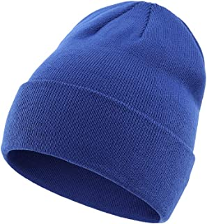Sponsored Ad - Vimfashi Men Women Warm Soft Rib Knit Cuffed Beanie Hat Winter Basic Skull Cap