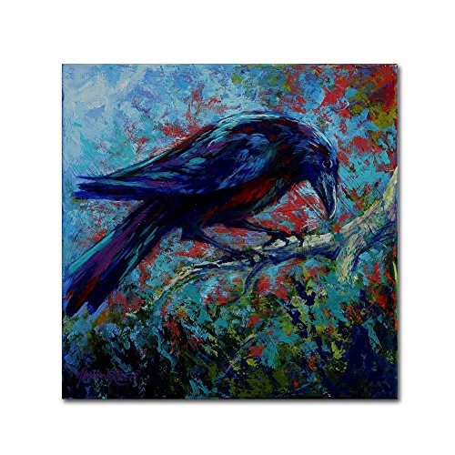 Raven by Marion Rose, 18x18-Inch Canvas Wall Art