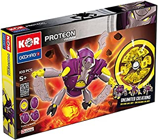 Geomag Kor Proteon Vulkram Transformer – 103 Piece Creative Magnet Playset Toy – Swiss Made – Part of Geomag's World Famous Award Winning Product Line – Expert Level – Ages 5 and Up