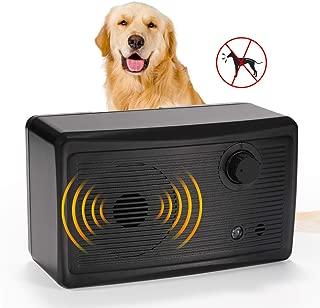 VOLADOR Outdoor Bark Control Device, Ultrasonic Anti Dog Barking Deterrent Waterproof Dog Training Tool