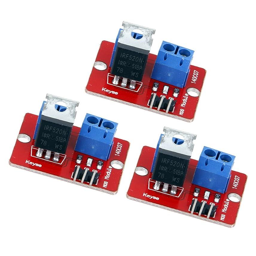 凍るエキス虚弱IRF520 MOS FETドライバモジュール PWMモーター Arduino Raspberry Pi適用 3個セット