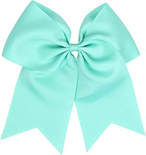 MOPOLIS Baby 8 Elastic Lovely Big Ribbon Bowknot Hair Rope Hair Bow Hair Band Accessory | Color - turquoise blue