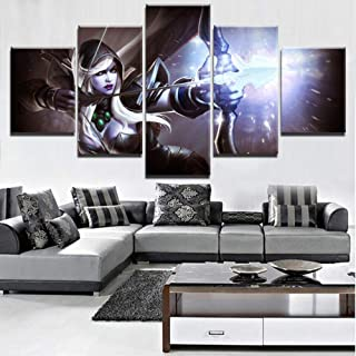 NYJNN 5 Canvas Prints Canvas Hd Painting 5 Pieces Dota 2 Set Of Paper Photos Home Decoration Poster Printed Wall Art Paint...
