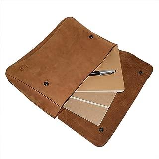 Hide & Drink, Vintage Leather Folder Document Holder/File Case/Document Portfolio, Office & Work Essentials Handmade :: Old Tobacco