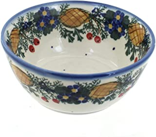 Blue Rose Polish Pottery Pinecone Cereal/Soup Bowl