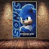 Refosian Cartoon Sonic Hedgehog Blue Flash Filmplakat
