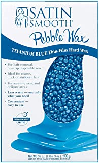 Satin Smooth Titanium Blue Pebble Wax, 35 oz