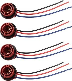 Winka 4 Pack 1157 BAY15D Light Bulb Extension Replacement Socket for Brake Turn Signal Tail Light Bulbs