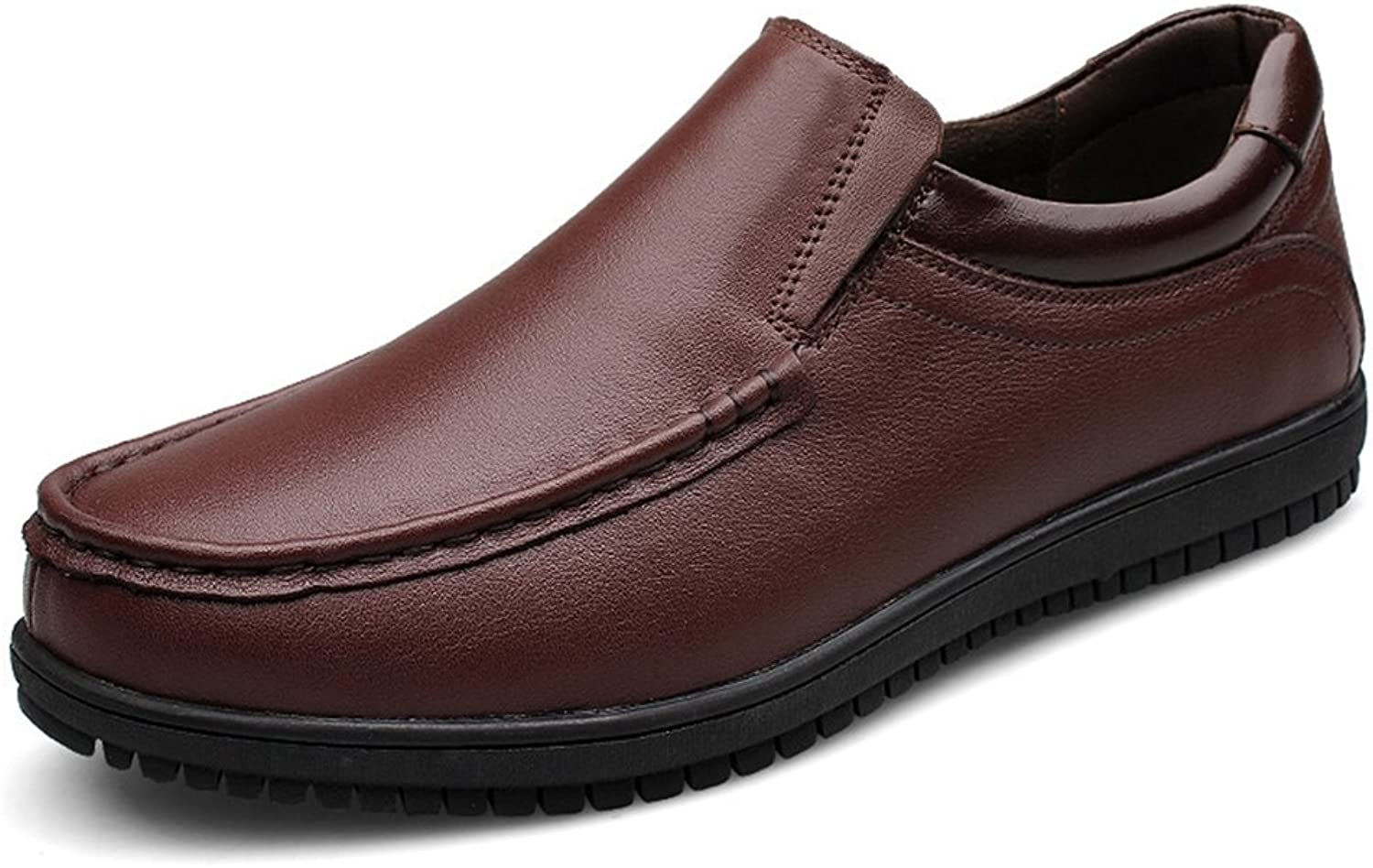 TDA Men's Slip On Quality Leather Walking Business Oxford Boat shoes
