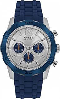 Guess Mens Quartz Watch, Analog Display and Rubber Strap W0864G6