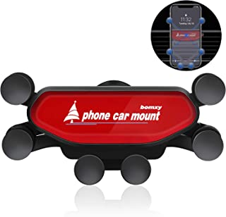 Upgraded Cell Phone Car Cradles Air Vent Car Mounts Holder Auto-Retractable Automatic Locking with Pneumatic Shock Protector for 4.7 to 6.8 inches Smartphones(red)
