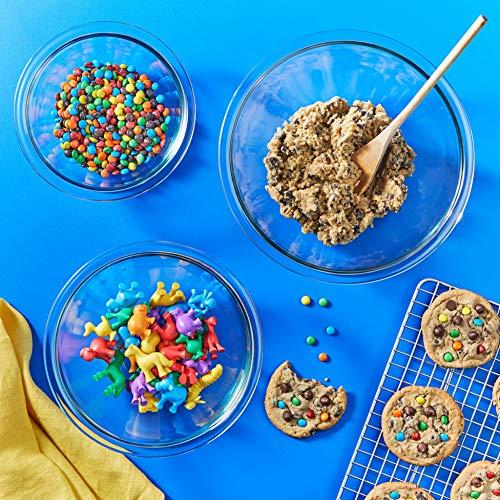 Pyrex Glass Mixing Bowl Set (3-Piece Set, Nesting, Microwave and Dishwasher Safe)