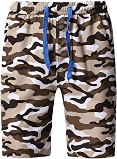 79a2cb6c70 Homstar Men Summer Camouflage Print Trunks Quick Dry Beach, Surfing Running  Short Pant Swim Wear