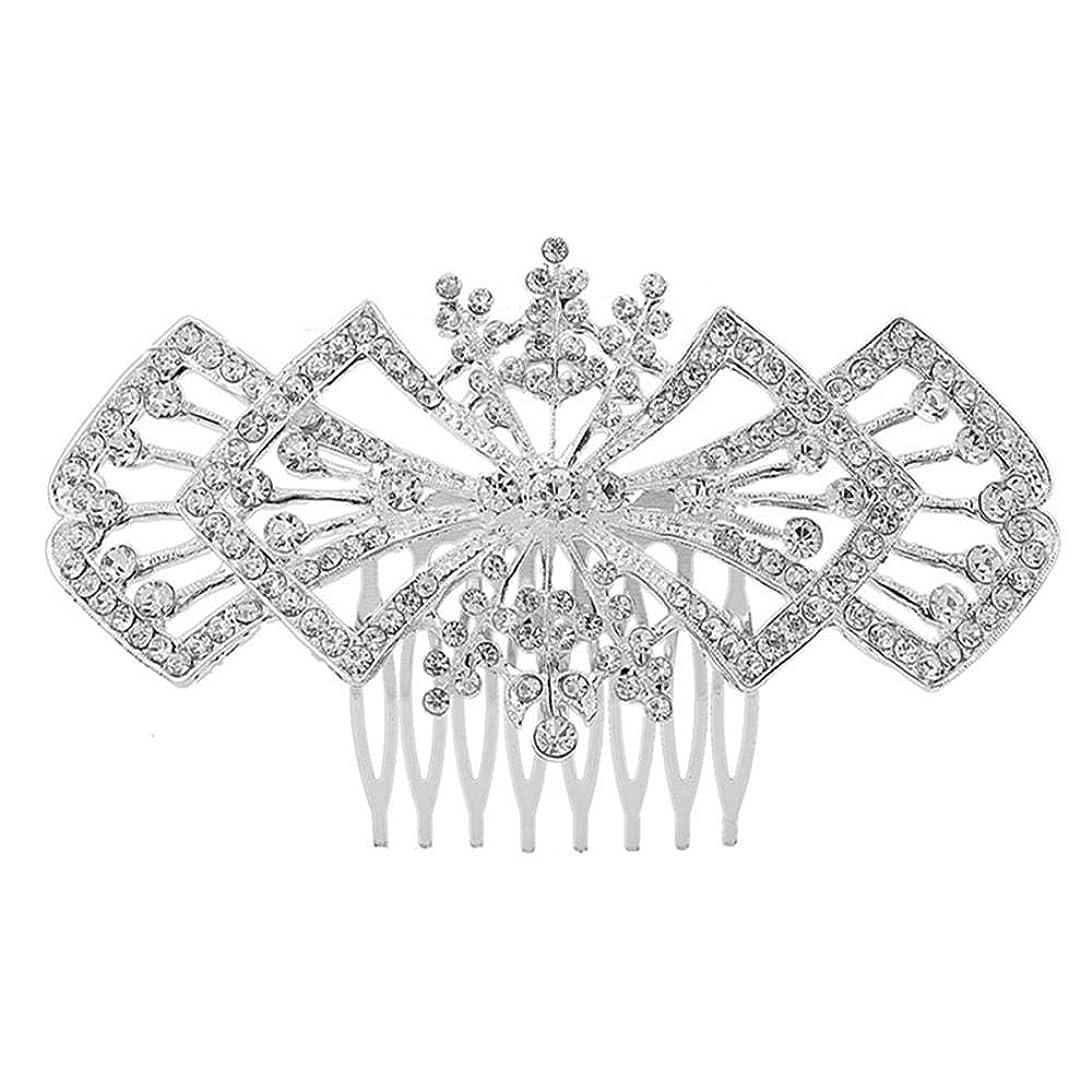マンハッタン優勢貪欲髪の櫛の櫛の櫛の花嫁の髪の櫛の花の髪の櫛のラインストーンの挿入物の櫛の合金の帽子の結婚式の宝石類