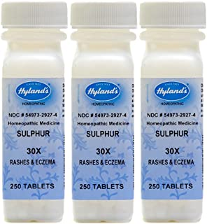 Hyland's Sulphur, 30X, Tablets, 250 Tablets (Pack of 3)
