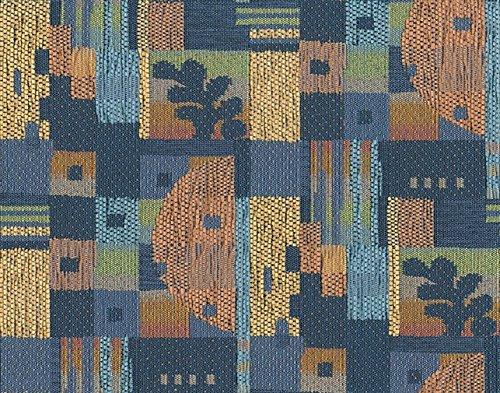 Möbelstoff LAUTERTAL 132 Muster Abstrakt Farbe blau als robuster Bezugsstoff, Polsterstoff blau gemustert zum Nähen und Beziehen, Polyacryl,Polyester, M2 Protect-Fleckschutz