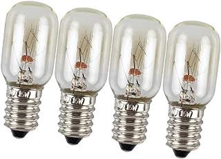 OSALADI - 4 bombillas LED para frigorífico (220 V, 15 W, para microondas, horno, congelador, techo), transparente