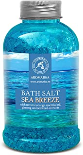 Bath Salt Sea Breeze 21,16 Ounces with Natural Essential Oils Orange & Ginseng & Seaweed - Best for Good Sleep - Relaxing ...