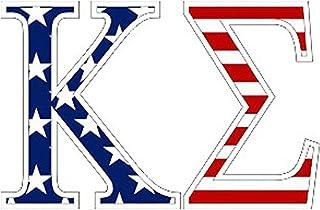 Kappa Sigma American Flag Greek Letter Sticker - 2.5