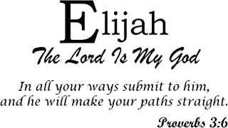Baby Names Wall Decals Displaying The Meaning of Names Vinyl Decal - Learn The Elijah Name Meanings of Baby Girl Names or Boys. Get This What Does My Name Mean Decal in - Black