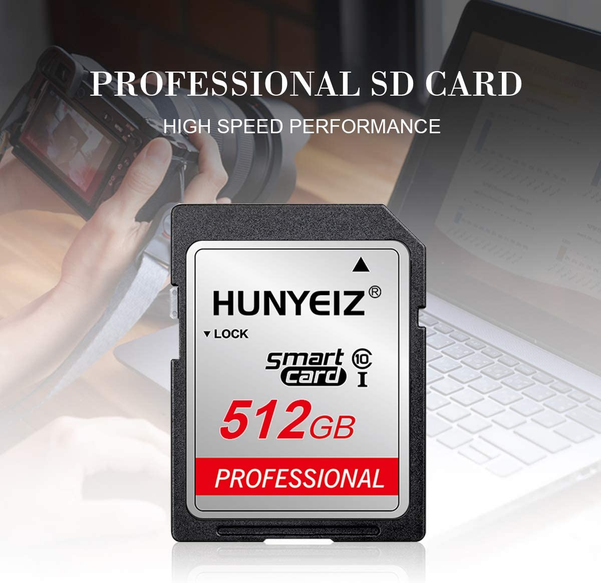 SD Card 512GB Memory Card Flash Memory Card Class 10 High Speed Security Digital SD Memory Card for Vloggers, Filmmakers, Photographers(512gb)