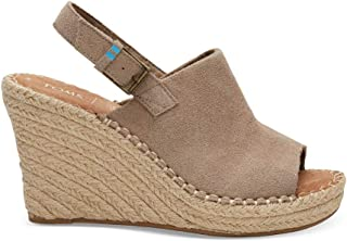 13669b144bc8 TOMS Women s Monica Suede Wedge Desert Taupe 6