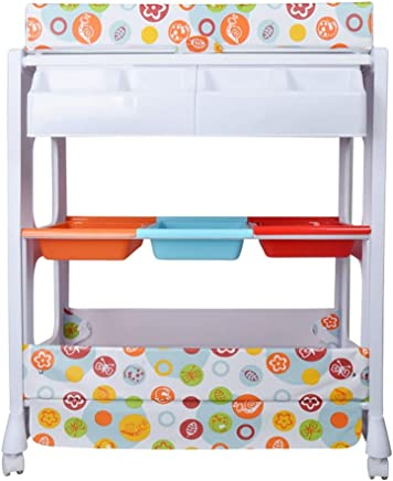 Changing tables Diaper chaging tables Baby Diaper with Bath Tub Unit  Nappy Changing Station Dresser with Storage Bath Tub Unit  Load