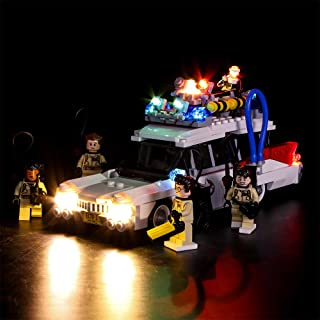 Vonado Led Light for Lego 21108 Ghost Ecto-1 Busters Building Bricks Blocks Creator City Compatible 16032 Toys to Brother Boys and Girls Gifts(Only Lights)