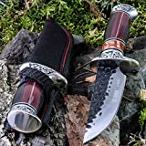 KanDar A051-2 • FESTSTEHENDE Messer JAGDMESSER • Gesamtlänge: 257mm • FTM-de.