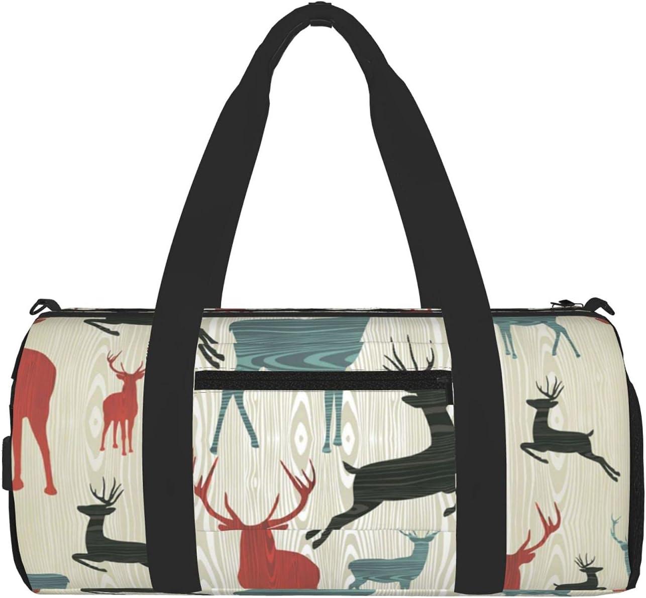 Reindeer Fashionable Horn Gym Bag Travel Unisex For Bargain sale Overni