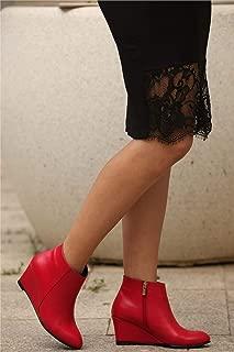 Agnes Kırmızı Dolgu Topuklu Bot