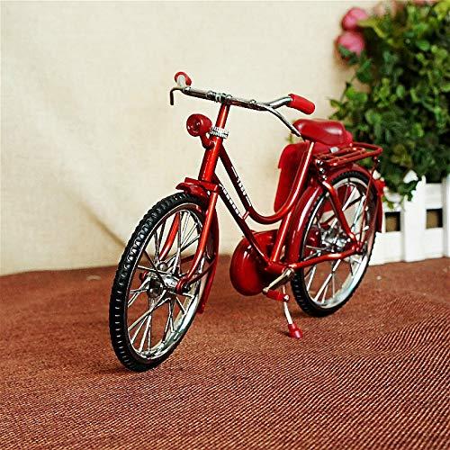 KIKIXI Bicicleta Ultra clásica Vintage para Hombres con Monedero. Adornos de Metal Hechos a Mano. Decoración Vintage Vintage. Bicicleta Antigua Ultra Realista.