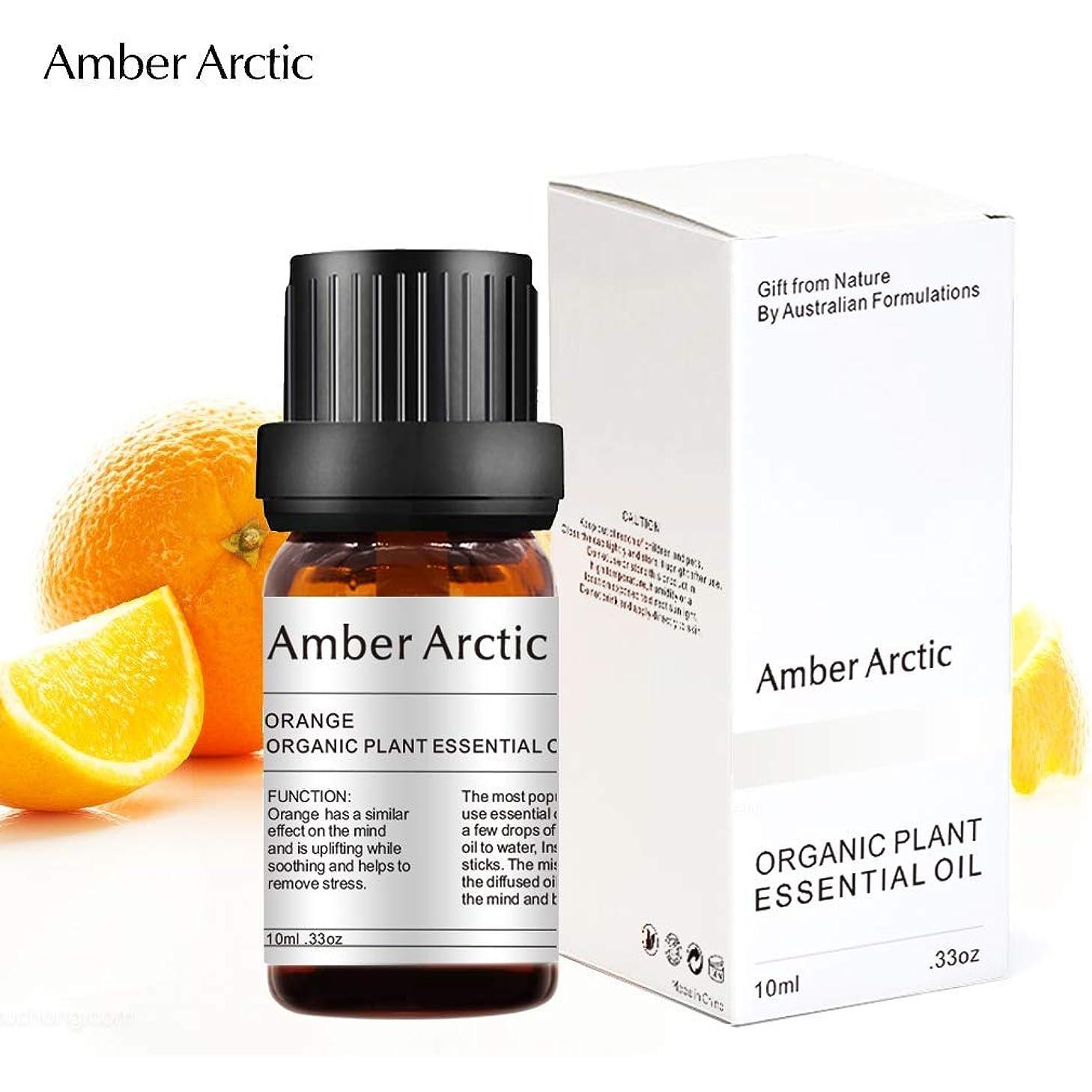ブルーベルリースハブAmber Arctic 拡散 用 オレンジ 精油、 100% 純粋 天然 アロマ ラベンダー オイル (10ml) 中