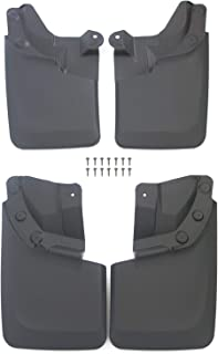 Powerworks Mud Flaps Splash Guards for Toyota Tacoma 2016-2019 Molded Except SR Models with OEM Fender Flares Front and Rear 4-PC Set