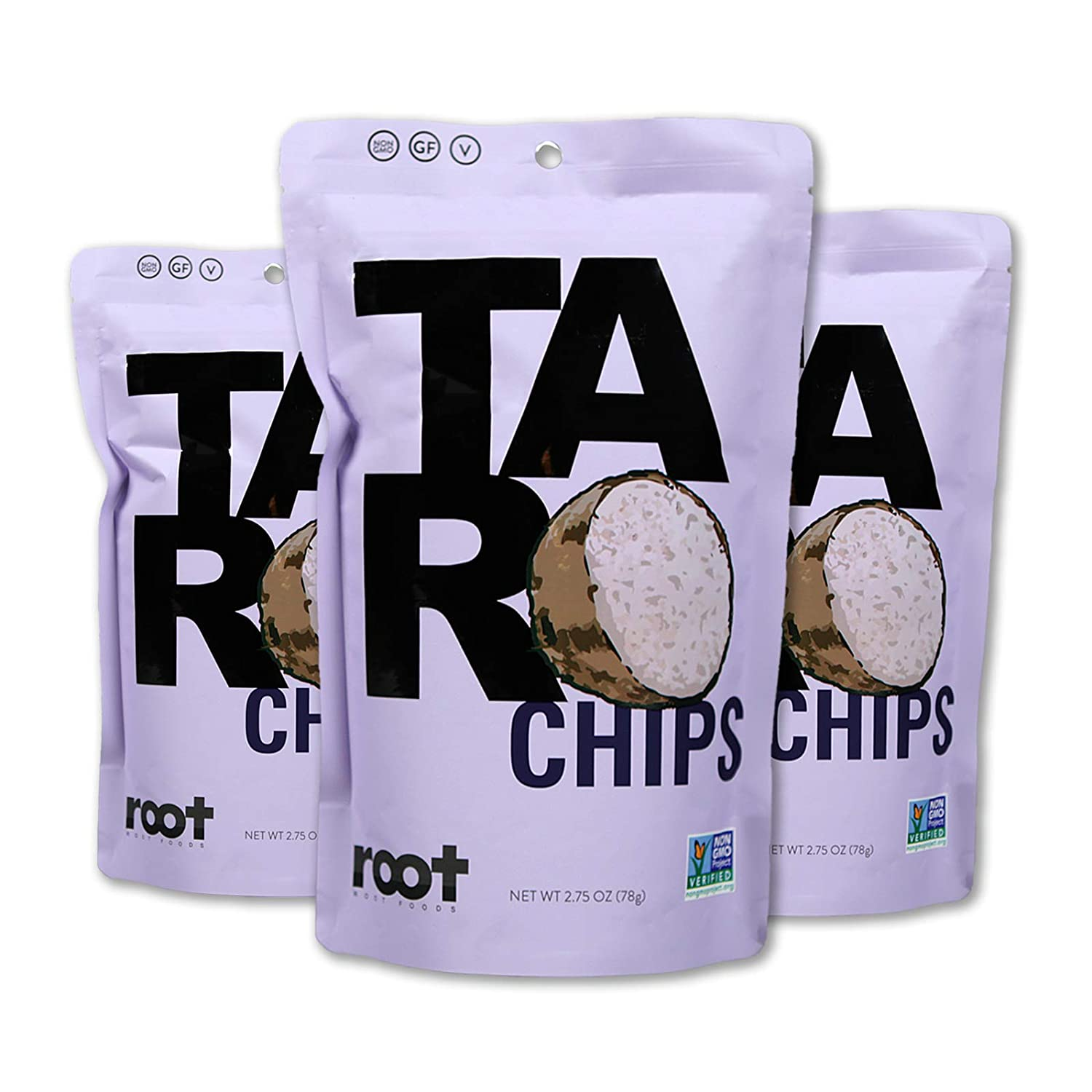 Root Foods Taro Chips Denver Mall Veggie Snack Max 84% OFF Stick Non-GMO Vegetable Real
