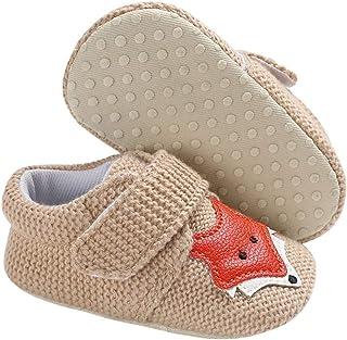 OULII Chaussons B/éb/é Tricots Chaussures Premiers pas Chausson B/éb/é Naissance /à la main-12cm