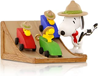 Hallmark Keepsake Ornament: Peanuts The Race Is On! Snoopy's Beagle Scouts Pinewood Derby with Woodstock