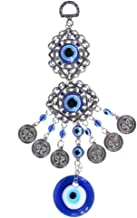 Blue Eye Wind Chimes Amulet Protection Turkish Evil Eye Wall Hanging Home Decotation Blessing Gift Lucky Pendant (Color : ...