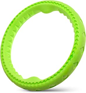 Fluffy Paws Dog Chewing Ring, Soft Durable Rubber Ring, Chewing Biting Chasing Training Pet Toy for Small and Medium DogPuppy