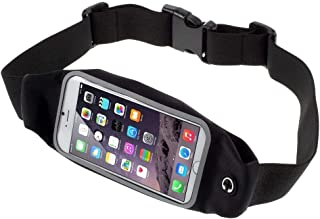 DFV mobile - Case Belt Bag Reflective with Touch Screen for Running Walking Hiking Jogging Waist Pack Waterproof Fanny Pack Pouch ????? VKWORLD K1 (2018) - Black