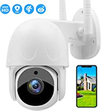 SOULLIFE Security Camera Outdoor, 1080P HD Wireless WiFi Home Surveillance Camera with Pan/Tilt 360° View Waterproof Night Vision, 2-Way Audio Auto Tracking Motion Detection Home Security Camera