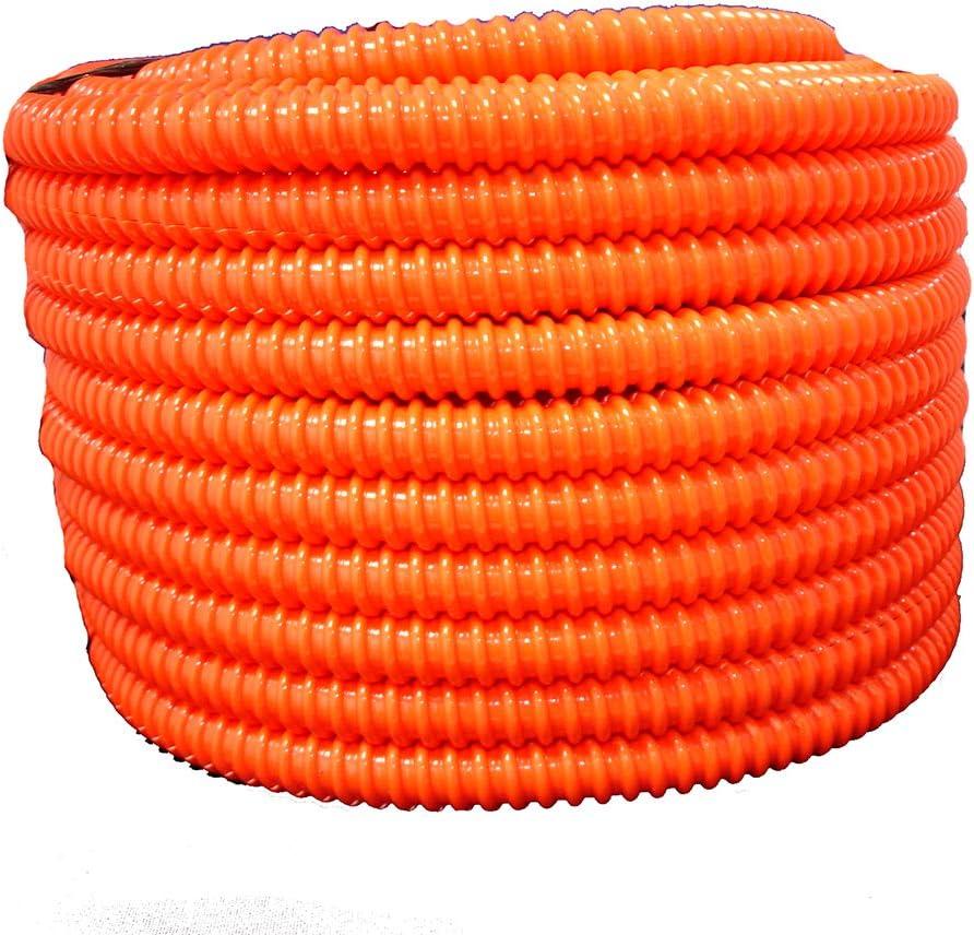 Amazon Com Hydromaxx Flexible Corrugated Pvc Non Split Tubing And Convoluted Wire Loom Uv Stabilized Rated For Outdoor Use 1 1 2 Dia X 25 Ft Orange Home Improvement