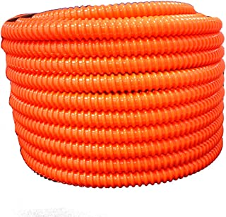 HydroMaxx Flexible Corrugated PVC Non-Split Tubing and Convoluted Wire Loom - UV Stabilized - Rated for Outdoor Use (1